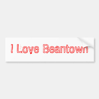 I Love Beantown Bumper Sticker