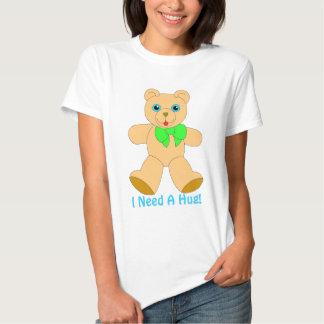 I Love Bear Hugs! Ladies Babydoll Fitted T T-shirt