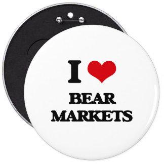 I Love Bear Markets Buttons