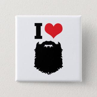 I Love Beards 15 Cm Square Badge
