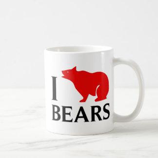 I Love Bears Coffee Mugs