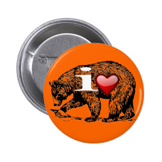 I LOVE BEARS PINBACK BUTTONS