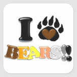 I Love Bears Sticker