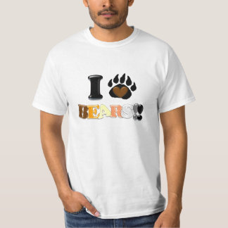 I Love Bears!! (Value Tee) Tshirts
