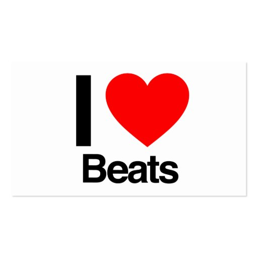 i love beats business card templates