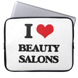 I Love Beauty Salons Laptop Sleeve