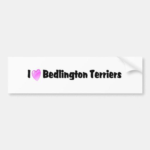 I Love Bedlington Terriers Bumper Stickers