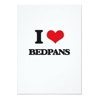 I Love Bedpans 13 Cm X 18 Cm Invitation Card