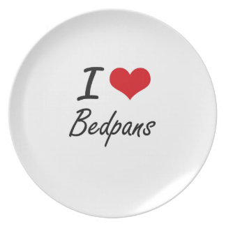 I Love Bedpans Artistic Design Dinner Plate