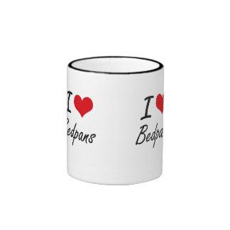 I Love Bedpans Artistic Design Ringer Mug