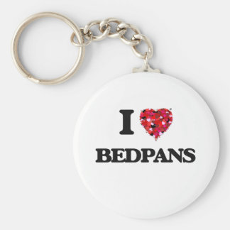 I Love Bedpans Basic Round Button Key Ring