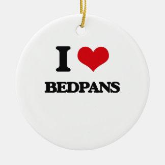 I Love Bedpans Christmas Ornaments