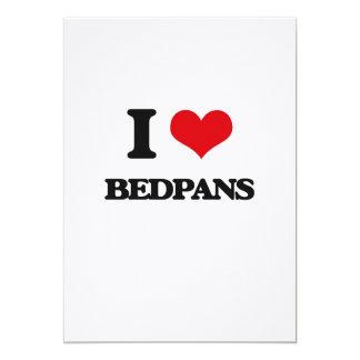 "I Love Bedpans 5"" X 7"" Invitation Card"