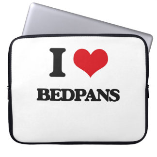 I Love Bedpans Laptop Computer Sleeves