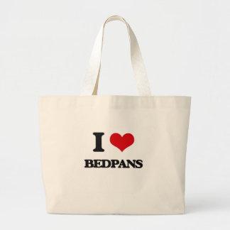 I Love Bedpans Large Tote Bag