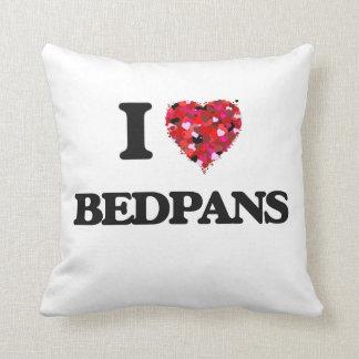 I Love Bedpans Throw Cushion