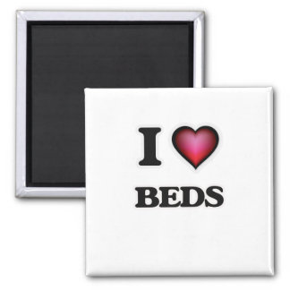 I Love Beds Magnet