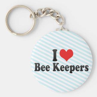 I Love Bee Keepers Keychain