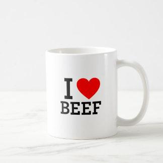 I Love Beef Basic White Mug