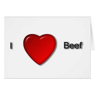I love Beef Card