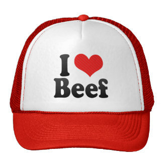 I Love Beef Mesh Hats