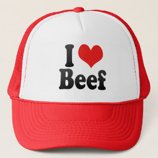 I Love Beef Trucker Hat