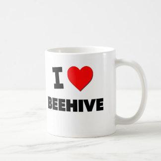 I Love Beehive Coffee Mugs