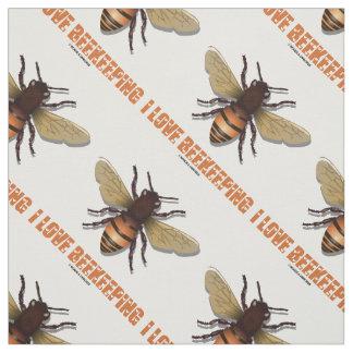 I Love Beekeeping Bee Attitude Apiarist Fabric