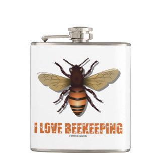 I Love Beekeeping Bee Attitude Apiarist Flask