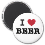 i love Beer 6 Cm Round Magnet