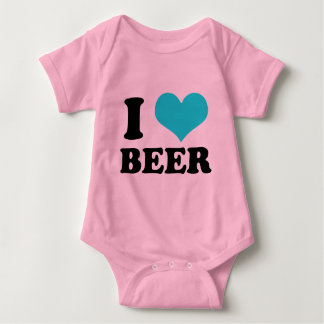 I Love Beer Baby Bodysuit