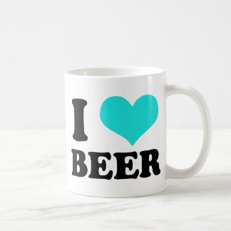 I Love Beer Basic White Mug
