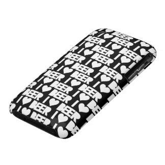 I Love Beer (bl;ack / white) iPhone 3 Covers