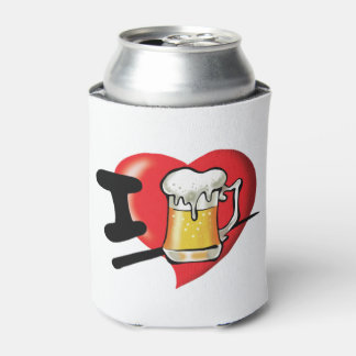 I Love Beer Can Cooler