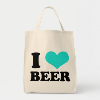 I Love Beer Grocery Tote Bag