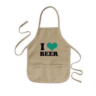 I Love Beer Kids Apron