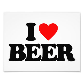 I LOVE BEER PHOTOGRAPH