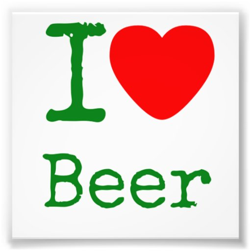 I Love Beer Photo Art