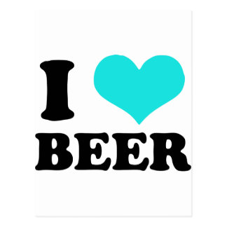 I Love Beer Postcard
