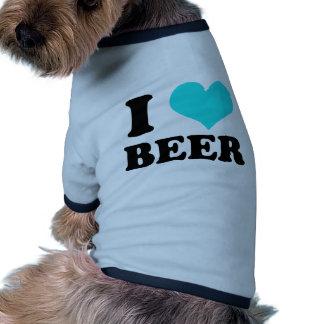 I Love Beer Ringer Dog Shirt