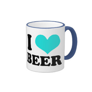 I Love Beer Ringer Mug