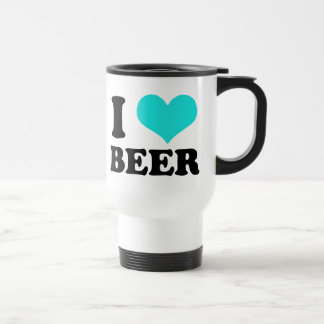I Love Beer Stainless Steel Travel Mug