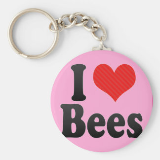 I Love Bees Keychains
