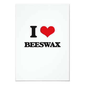 I Love Beeswax Personalized Invitation Cards