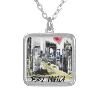I love Beijing Silver Plated Necklace