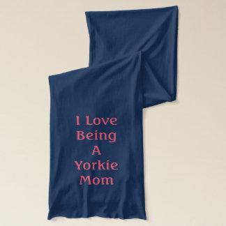 I Love Being A Yorkie Mom Yorkie Cartoon Scarf