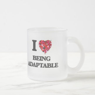 I Love Being Adaptable Frosted Glass Mug