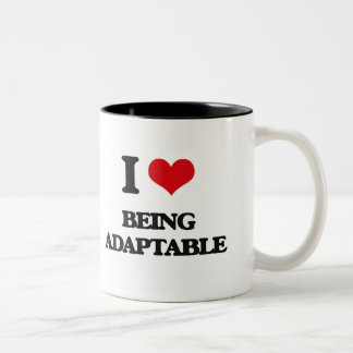 I Love Being Adaptable Two-Tone Mug
