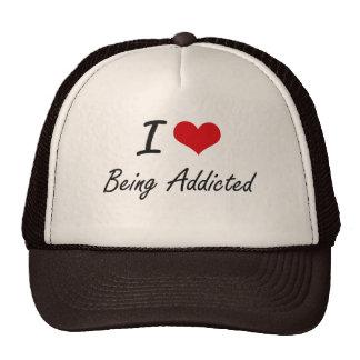 I Love Being Addicted Artistic Design Cap