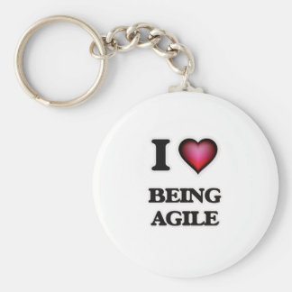 I Love Being Agile Key Ring